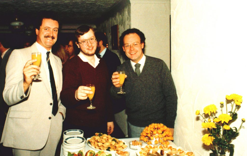 Norfolk production company founders, pictured in 1983.