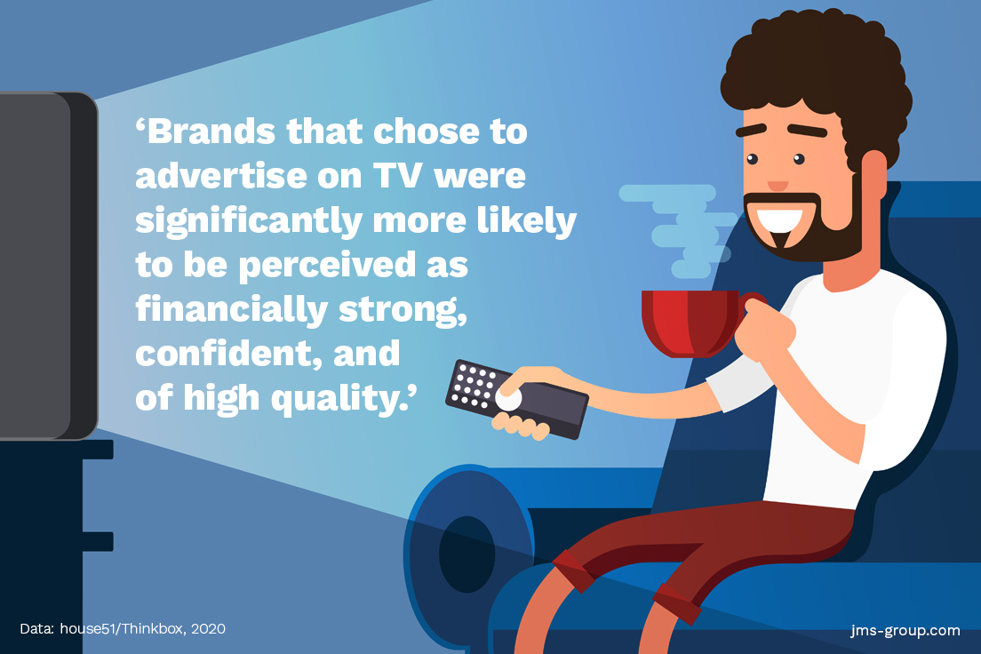 Advantages of TV advertising, brand image.
